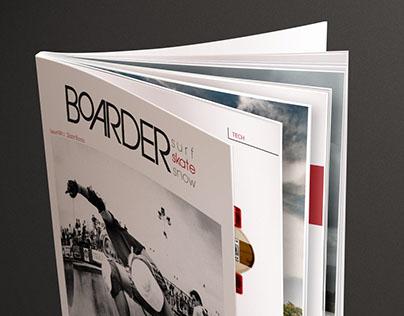 BOARDER magazine & website (concept)