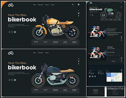Bikerbook website user interface design(ride share)