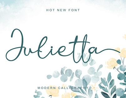 Free Julietta Calligraphy Font