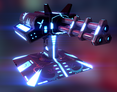 Sci-fi Turrets - MSI Electric City: Core Assault