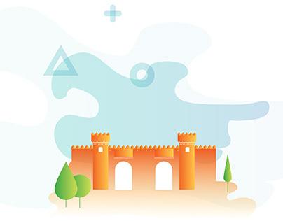 Illustration of Azerbaijan monuments