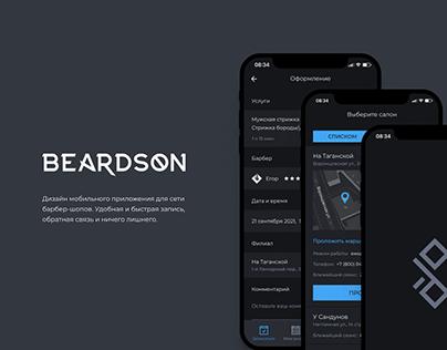 BEARDSON barbershop mobile app