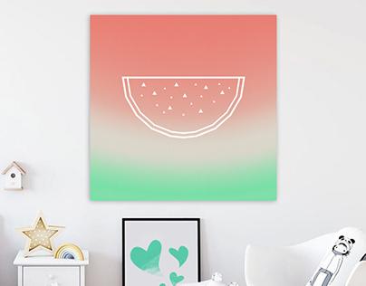 Watermelon / minimalist design