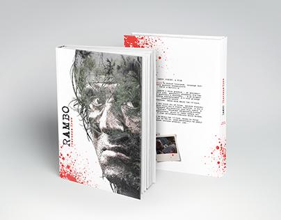 """Niekomercyjny projekt okładki książki """"Rambo"""""""