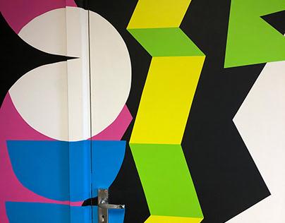wall at the studio