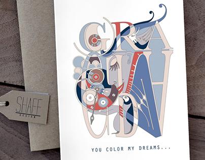 YOU COLOR MY DREAMS - LOVE CARD