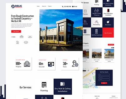 Website design for Delic Construction