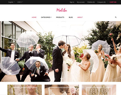 Leo Malibu Free PrestaShop Theme Weddings Leotheme