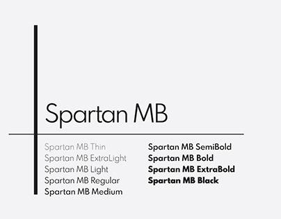 SPARTAN MB - FREE MODERN GEOMETRIC FONT FAMILY