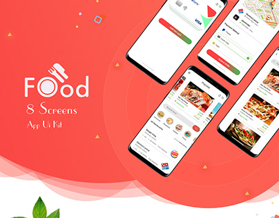 Latest Food Mobile App UI Design concept PSD