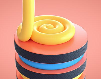 Layered Cake Loop in Cinema 4D Tutorial
