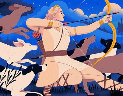 Goddess illustrations for Medium