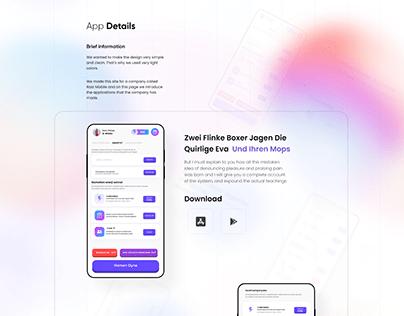 Rast Mobile Web Redesign