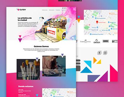 Diseño web para libreria Gundy