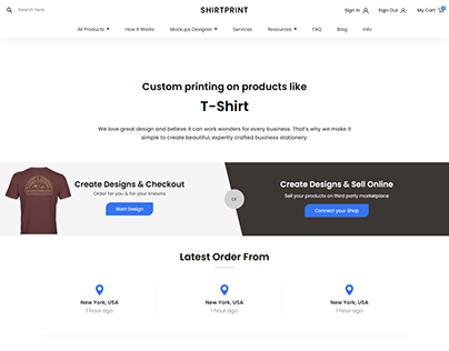 Ecommerce Home Page Design using Angular Material