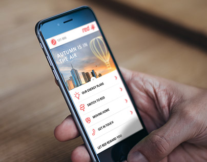 RED ENERGY - Mobile UI Design