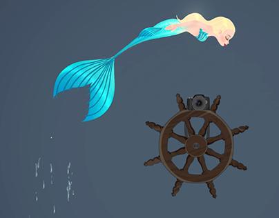 Animated Mermaid Logo