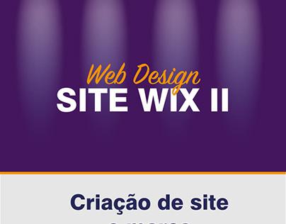 Criação de site e marca para plataforma Wix II