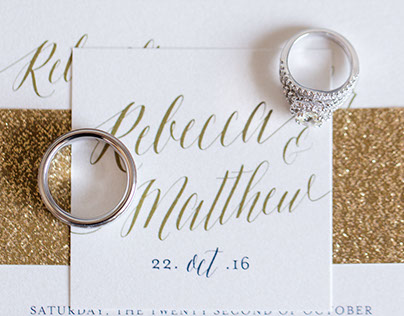 Rebecca & Matthew Wedding Invitation Suite & Day Of