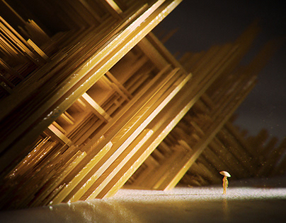 Gold City - Abstract 3D Illustrations