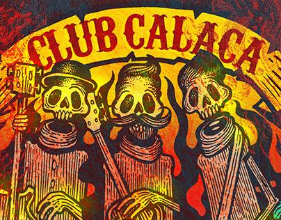 Club Calaca design for a drum