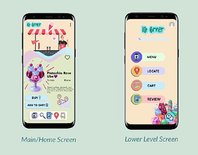 UI/UX Design- Ice Corner
