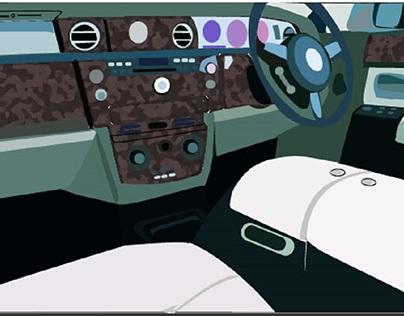 Rolls Royce Digital Illustration