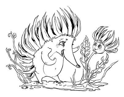 Hedgehog story inked...