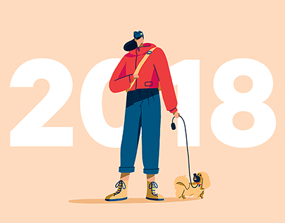 Year of the Dog Walker - Lunar New Year