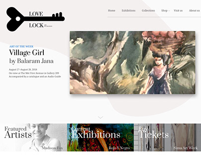 Lovelock Art Foundation landing page