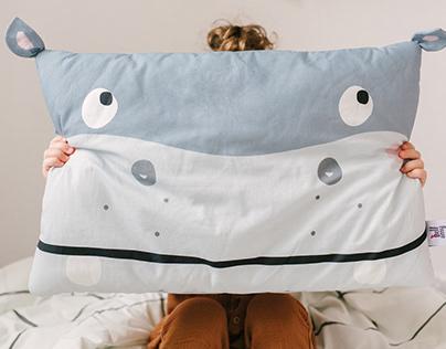 Oh Hippo | Hey Piggy textile print design
