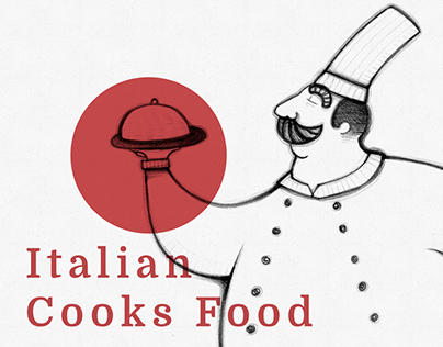 Italian Cooks Food Illustrations