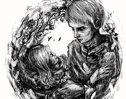 Ілюстрації до оповідань Вадима Овчарова НЕ олівцем