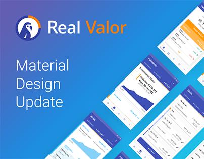 Real Valor - Material Design Update