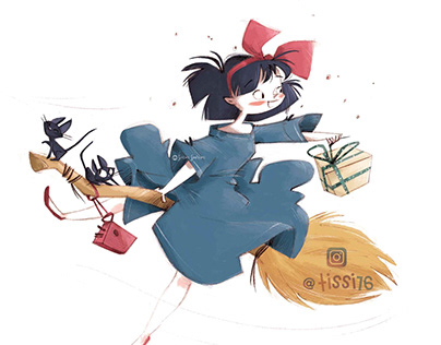 Kiki's Delivery Service- fan art-
