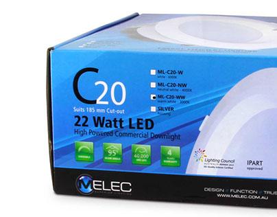 High Power LED downlight range packaging design