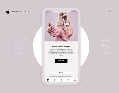 Clean Mobile Shopping App for iOS | UX/UI