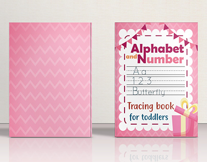 Alphabet and number tracing book for toddlers