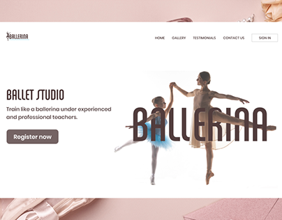 ballet -website page