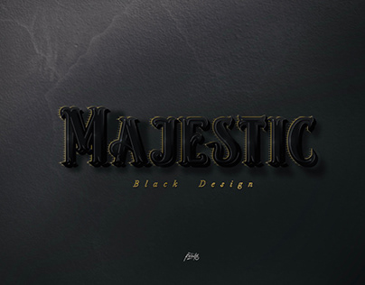 Majestic - typographie