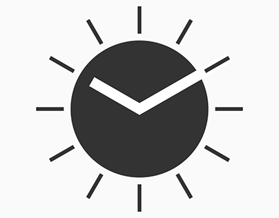 Clock & Correct Sign - Logo & Symbol Visualisation