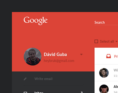 Gmail Material Redesign Concept