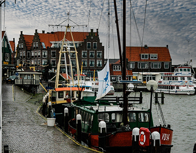 Small fishing village in the Netherlands
