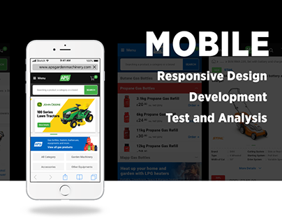 Mobile Design Phase of APS E-commerce Website