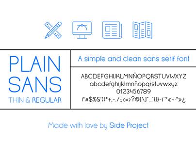 Plain Sans font.