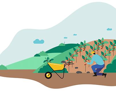 Ilustraciones para animación Nestlé Mexico
