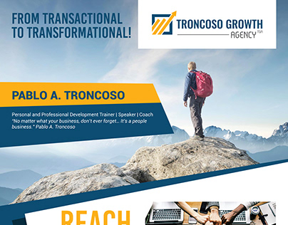 Poster Design For Troncoso Growth Agency