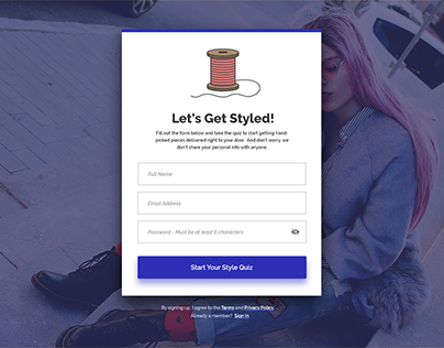 Daily UI Challenge - Sign Up Form