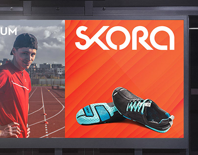 Skora Running brand visual identity