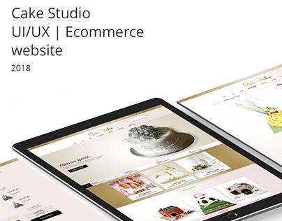 Cake Studio UI/UX   Ecommerce website